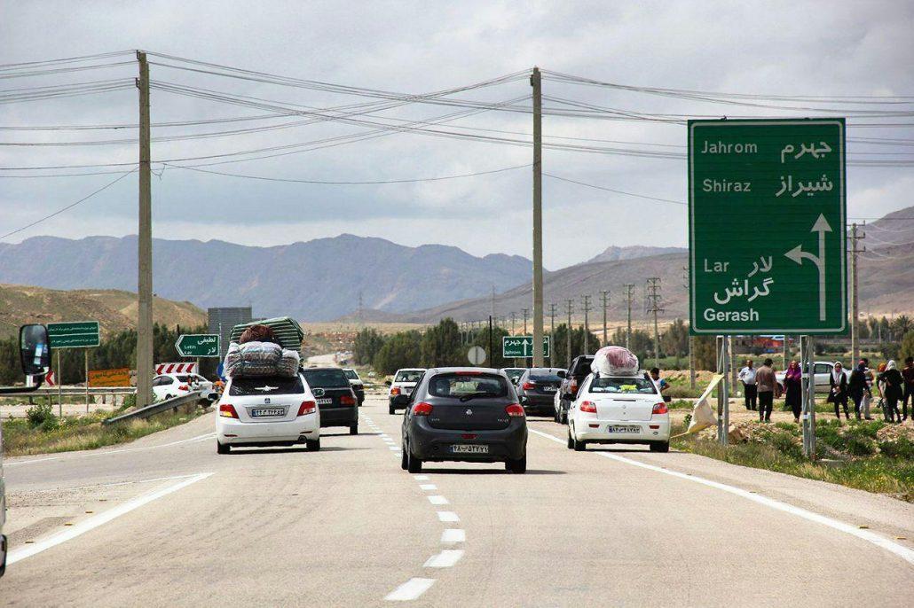 باربری تهران به شیراز